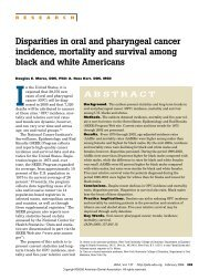 2006 Disparities in Oral And Pharyngeal Cancer Incidence, Mortality ...
