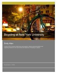 Bicycling at NYU - New York University