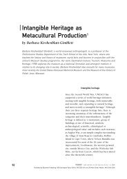 Intangible Heritage as Metacultural Production1 - New York University