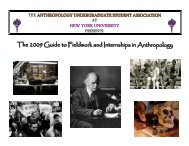 2009 Guide to Fieldwork and Internships in Anthropology