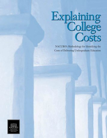 Explaining College Costs Final Report - Socrates - University of ...