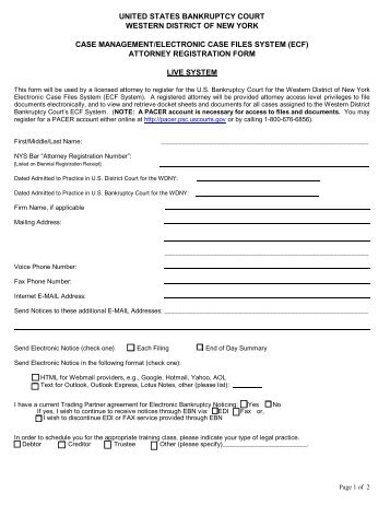 cm/ecf registration form – attorney/trustee - US Bankruptcy Court ...