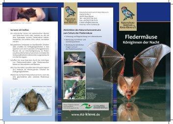 Fledermäuse - Naturschutzzentrum Kleve
