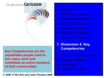 7. Dimension 4: Key Competencies - NZEI