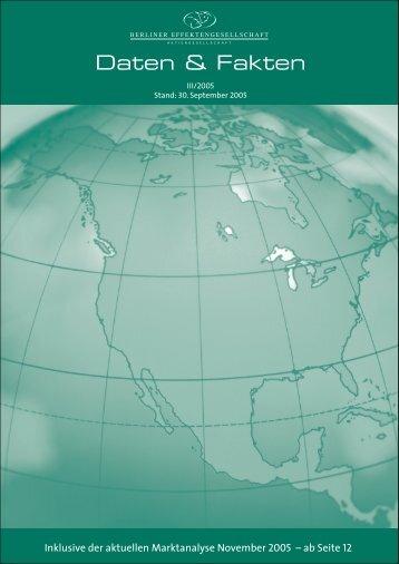Inklusive der aktuellen Marktanalyse November 2005 – ab Seite 12