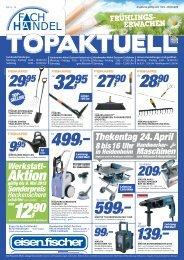 Aktion gültig bis 9. Mai 2012 Sonderpreis ... - Eisen-Fischer GmbH