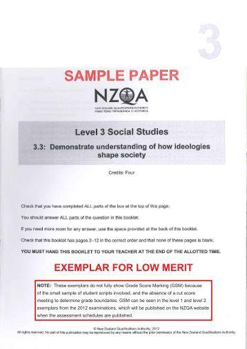 Nzqa essay exemplars level 1