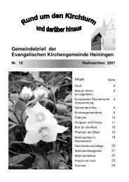 Gemeindebrief Nr. 18 - Weihnachten 2007 (pdf-Datei 1