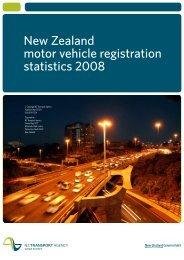 New Zealand motor vehicle registration statistics 2008