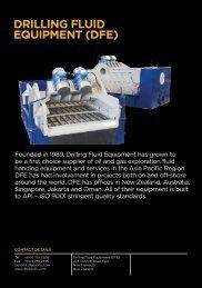 DRILLING FLUID EQUIPMENT ( DFE )