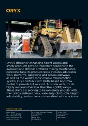 Oryx's efficiency-enhancing height access and safety products ...