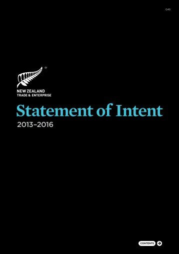 Statement of Intent 2013–2016 - New Zealand Trade and Enterprise