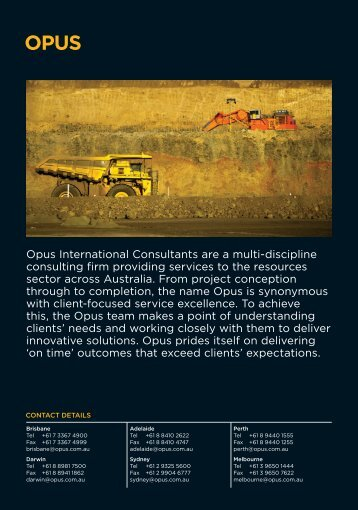 Opus International Consultants are a multi-discipline consulting firm ...