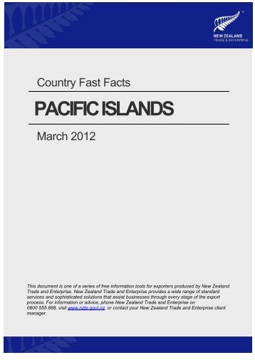 Pacific Fast Facts - New Zealand Trade and Enterprise