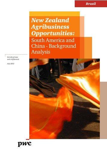 Global Agribusiness - Background Analysis - Brazil - New Zealand ...