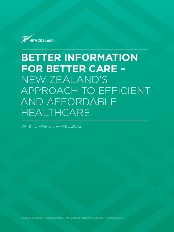 Better Information for Better Care - New Zealand Trade and Enterprise