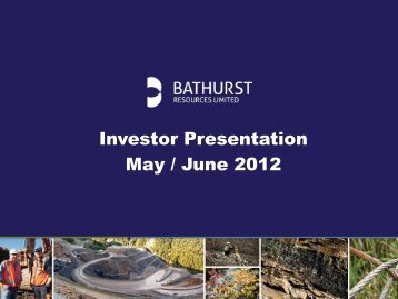 Investor Presentation May / June 2012 - NZX.com