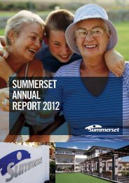 SUMMERSET ANNUAL REPORT 2012