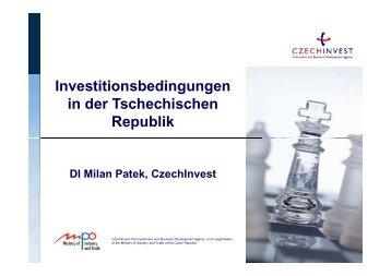 Investitionsbedingungen in der Tschechischen Republik