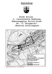 Stadt Brilon 2. vereinfachte Änderung Bebauungsplan ... - O-sp.de