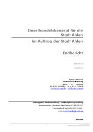 Einzelhandelskonzept für die Stadt Ahlen Im Auftrag der ... - O-sp.de
