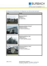Dorfgemeinschaftshäuser im Eigentum der Gemeinde ... - O-sp.de