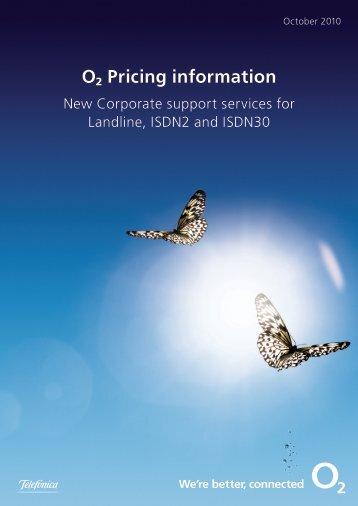 ø Pricing information - O2