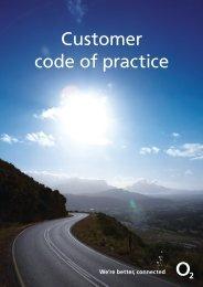 Customer code of practice - O2