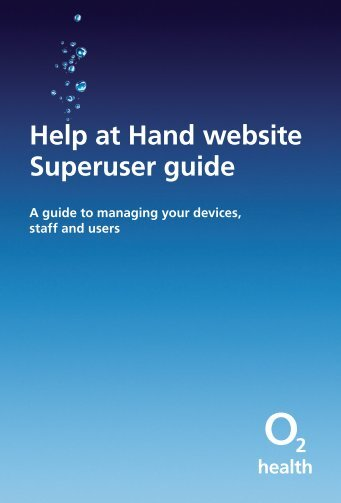 Help at Hand website Superuser guide - O2