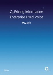 ř Pricing Information Enterprise Fixed Voice - O2