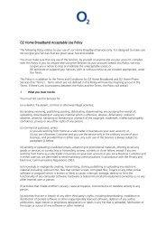 O2 Home Broadband Acceptable Use Policy