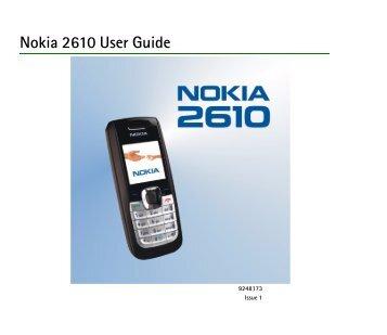 Nokia 2610 User Guide