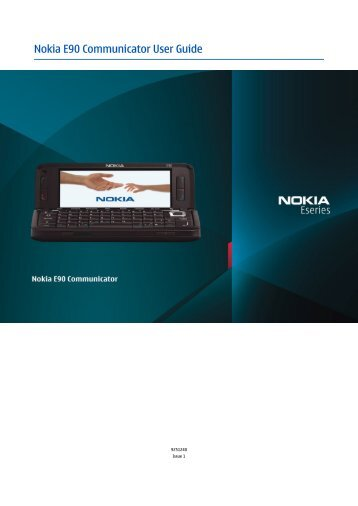 Nokia E90 Communicator User Guide - O2