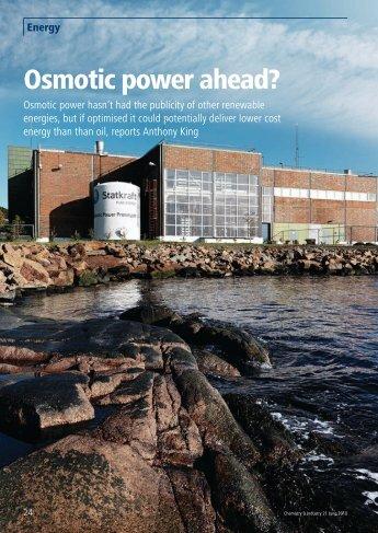 Download: Osmotic Power Ahead (PDF) - O2 Environmental