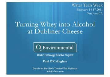 Turning whey in dairy wastewater into alcohol PowerPoint