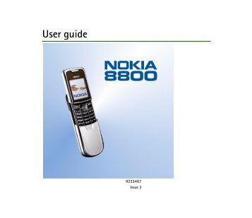 PDF Nokia 8800 User Guide