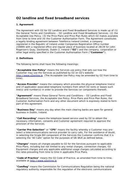 O2 Landline And Fixed Broadband Services O2 Ireland