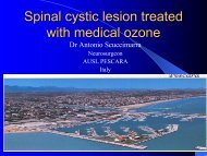 Spinal Cystic Lesion Treated with Medical Ozone by ... - o3center.org