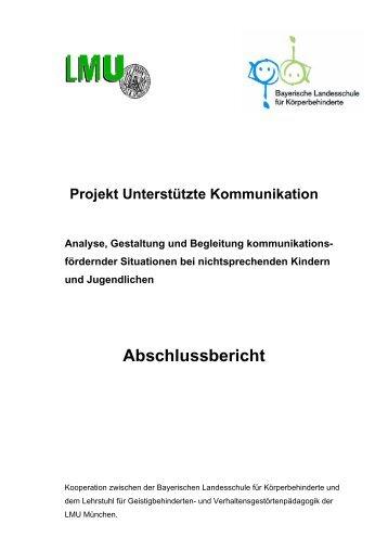 Projekt Unterstützte Kommunikation - Ludwig-Maximilians ...