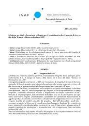 bando in lingua italiana - INAF-Osservatorio Astronomico di Roma