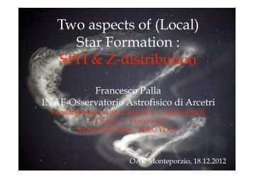 Star Formation - INAF-Osservatorio Astronomico di Roma