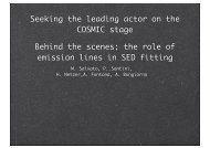 Behind the scenes: the role of emission lines in SED fitting Seeking ...