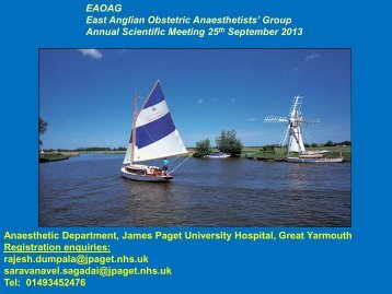 Group Annual Scientific Meeting 25th September 2013 Anaesthetic ...
