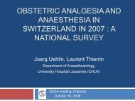 a national survey - The Obstetric Anaesthetists' Association