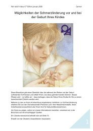 Möglichkeiten der Schmerzlinderung vor und bei der Geburt Ihres ...