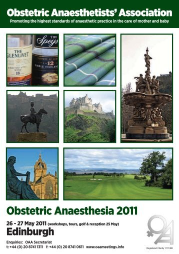 Obstetric Anaesthesia 2011 - The Obstetric Anaesthetists' Association