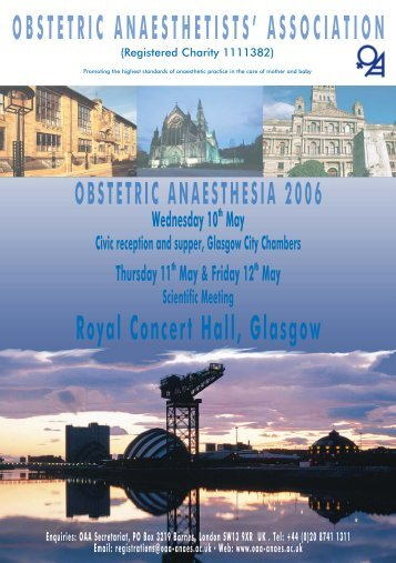 Scientific Meeting - The Obstetric Anaesthetists' Association