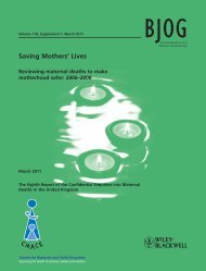 Saving Mothers Lives - Wiley Online Library