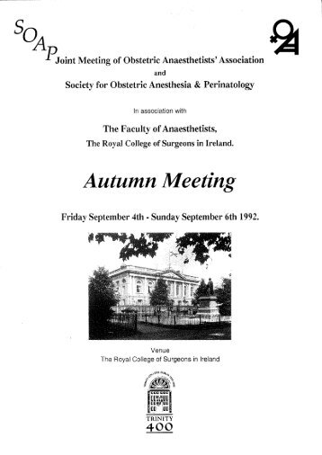 abstracts - The Obstetric Anaesthetists' Association