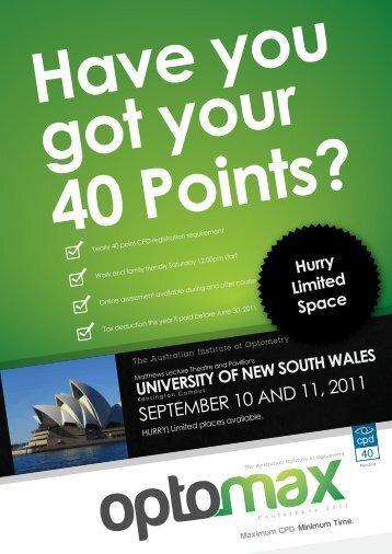 Pending - Optometrists Association Australia NSW/ACT Division